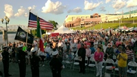 Italianfest 2013 Opening Night Ceremony Crowd